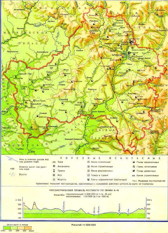 Физическая карта области